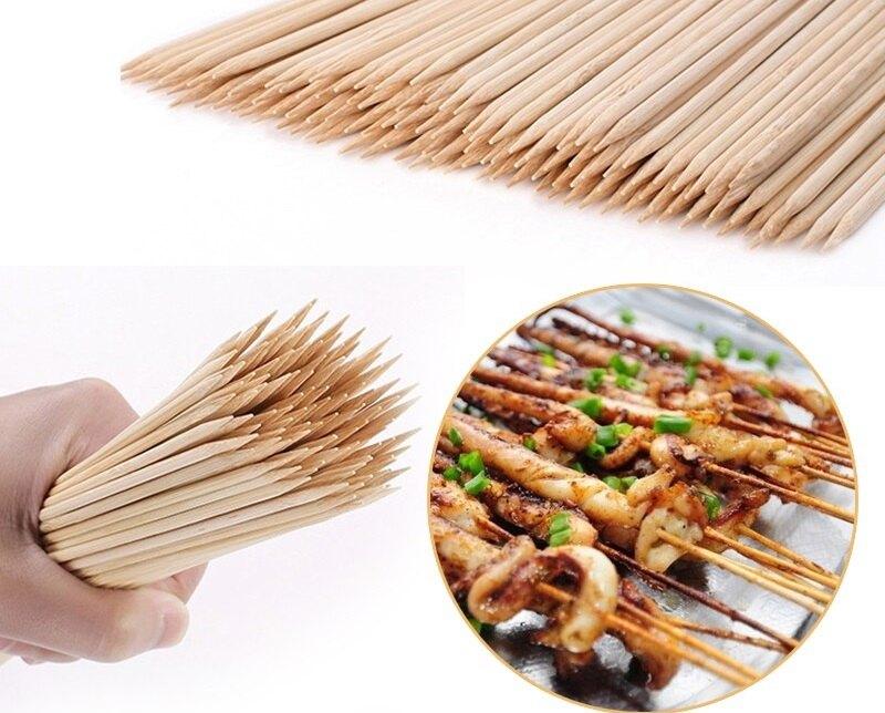 Для приготовления закусок и шашлыков на мангале рекомендуется использовать деревянные шпажки