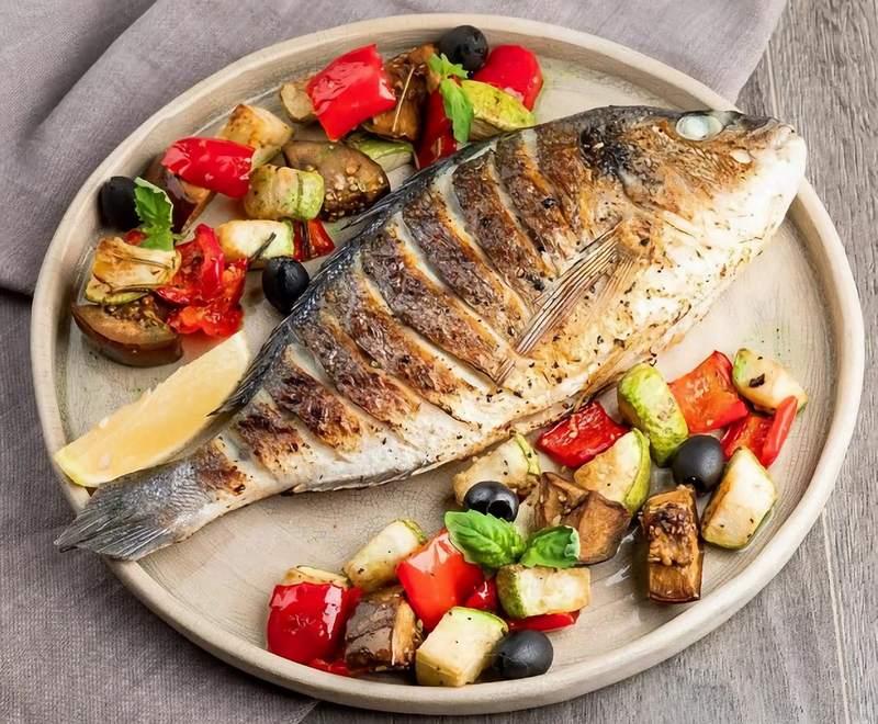 Дорадо с овощами великолепная закуска для пикника