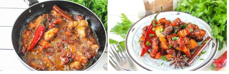 Красная свинина по-китайски обязательно заинтересует любителей сытной еды