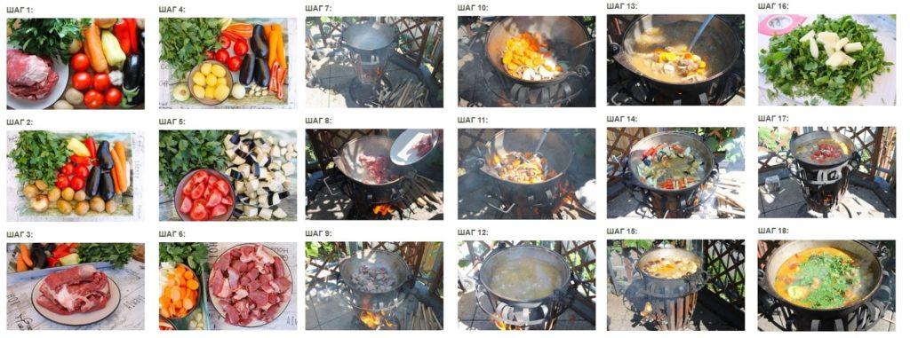 Пошаговое приготовления шулюма в казане