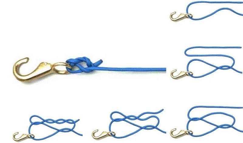 Узел оrvis knot - простой и надежный способ привязывания рыболовного крючка к леске